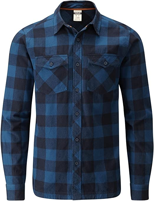 Rab – Camiseta Camisas – Rab frontera forestal, Indigo Denim ...