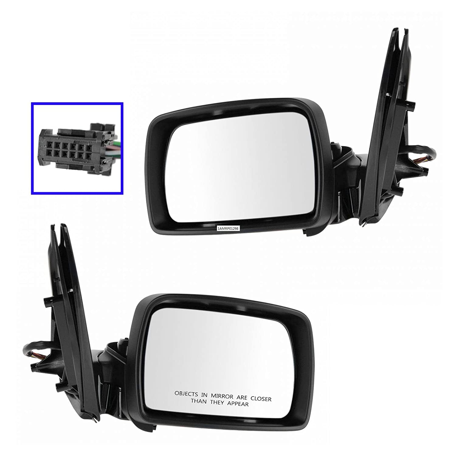 Mirror Power Heated Signal LH Left RH Right Pair Set for 10-14 Mazda CX-9