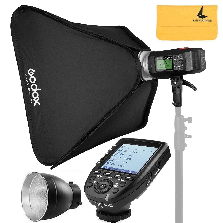 Godox AD600BM AD Sync 1 / 8000s 2.4G Wireless Flash Light Speedlite+Godox XPro-C TTL Wireless Transmitter for Canon EOS Series Cameras,AD-R6,80cmX80cm /32''X32''Softbox