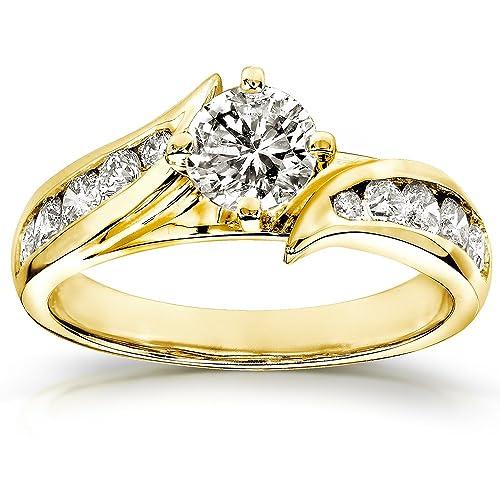 anelli di fidanzamento in oro giallo