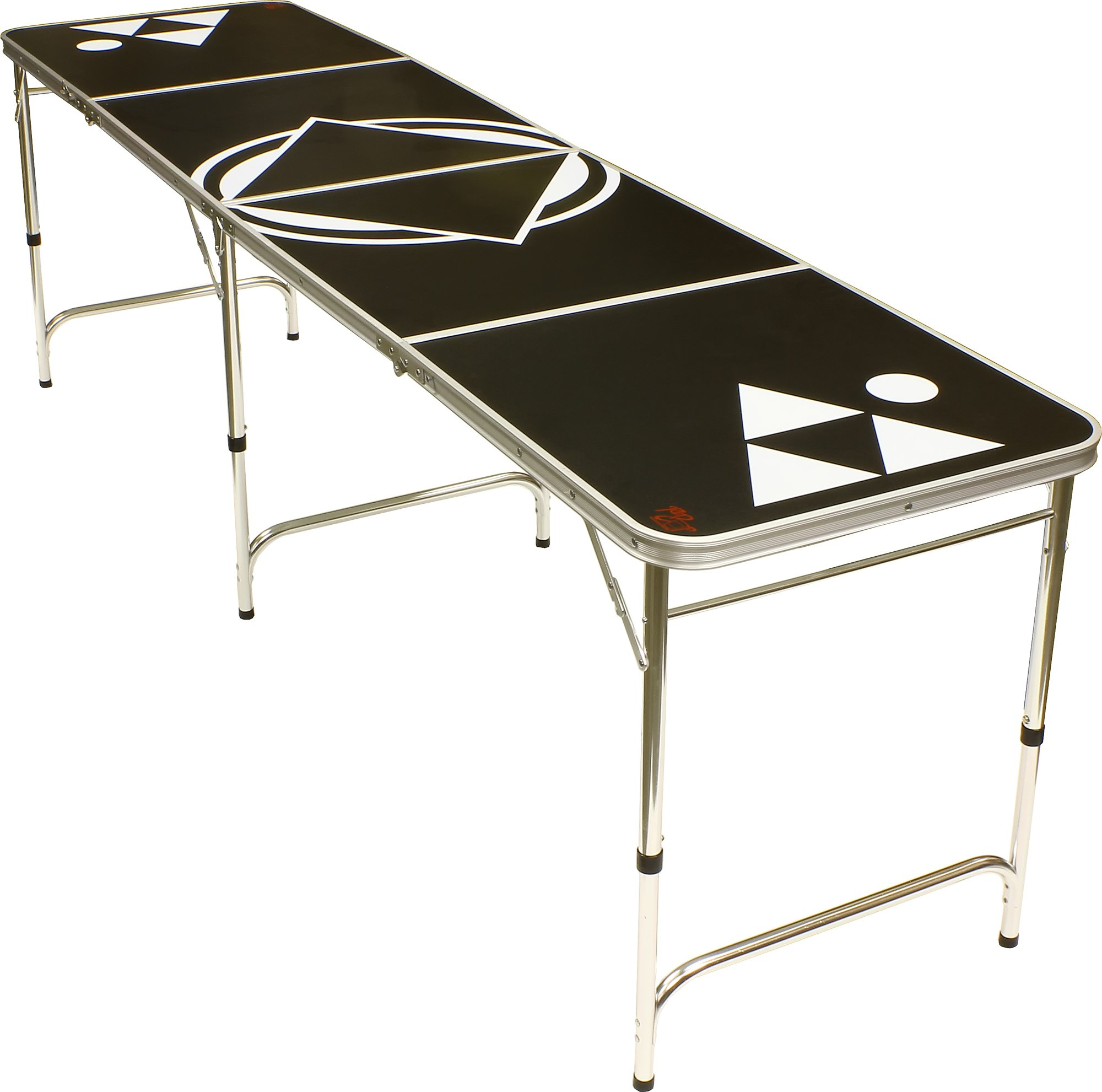 8' Beer Pong Table - Lightweight & Portable with Carrying Handles by Red Cup Pong (Black)