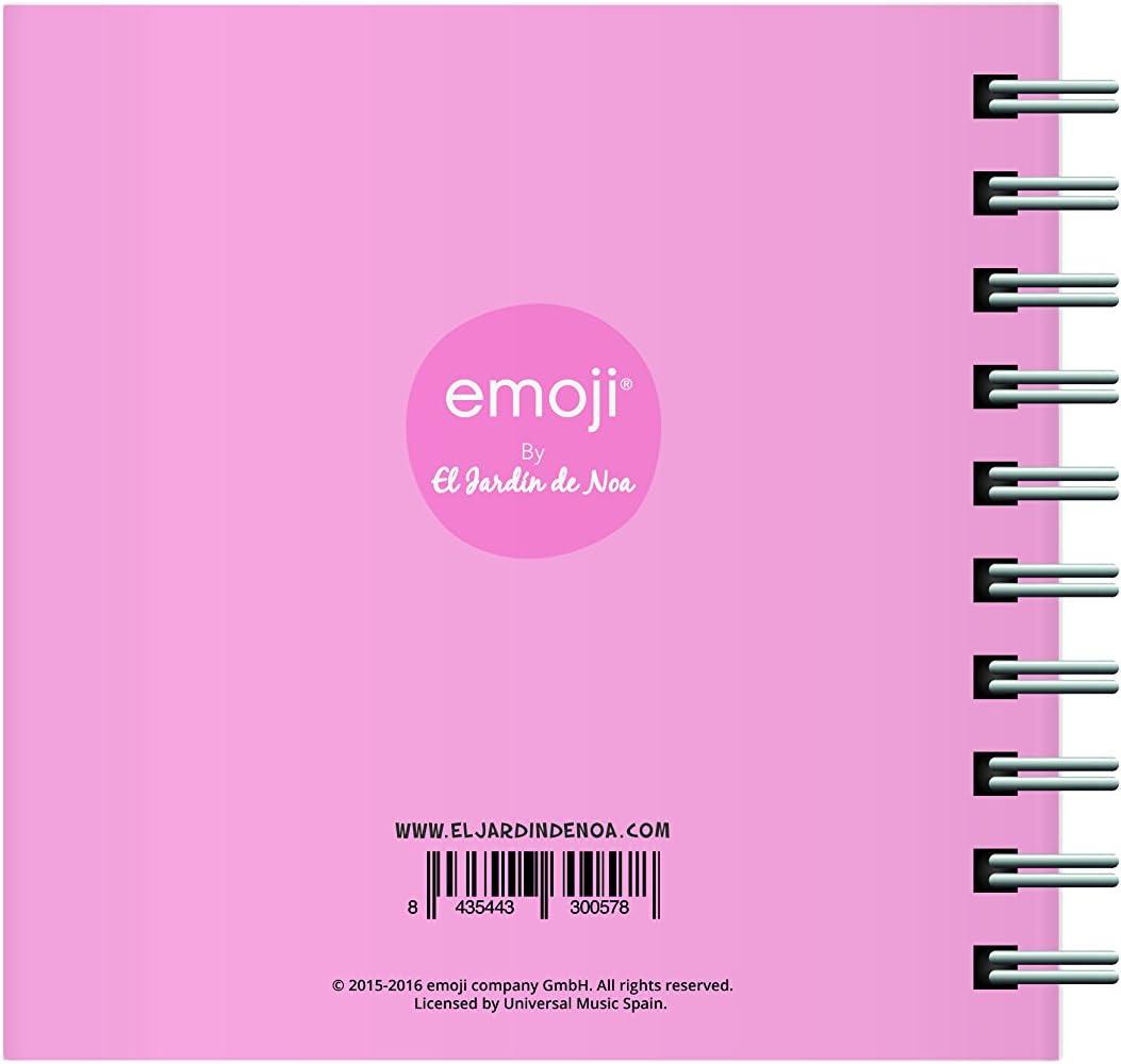 El Jardin de Noa EBN1007C - Cuaderno cuadrado: Emoji By Noa: Amazon.es: Oficina y papelería