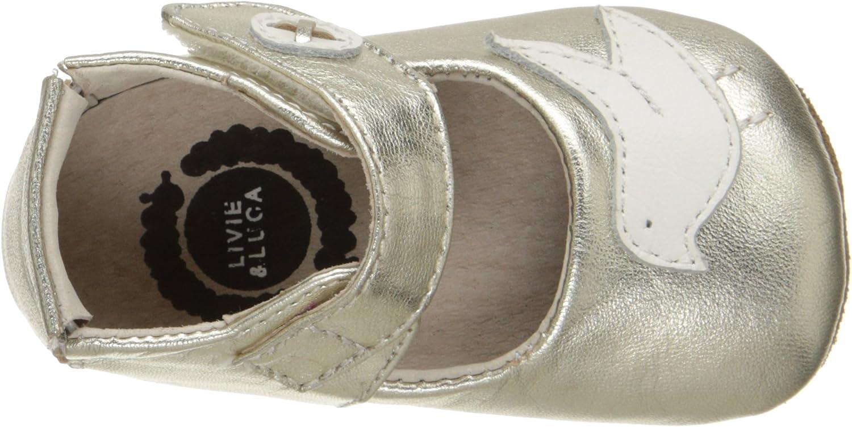 Livie /& Luca Girls PIO-K Crib Shoe Silver//Metallic 18-24 Months M US Infant