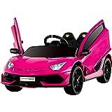 Uenjoy 12V Kids Electric Ride On Car Lamborghini Aventador SVJ Motorized Vehicles with Remote Control, Battery Powered…