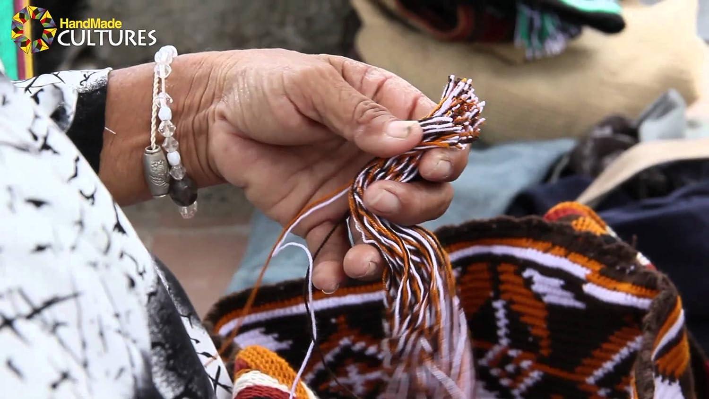 Labyrint colombianska handväskor, Wayuu ryggsäck för både kvinnor och män. Pachongo