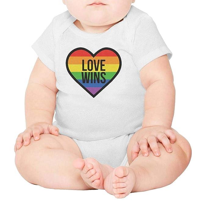 7580b3d33fe2 Amazon.com  Xanx Smon Baby Onesies Bodysuit Love Wins Gay Pride ...