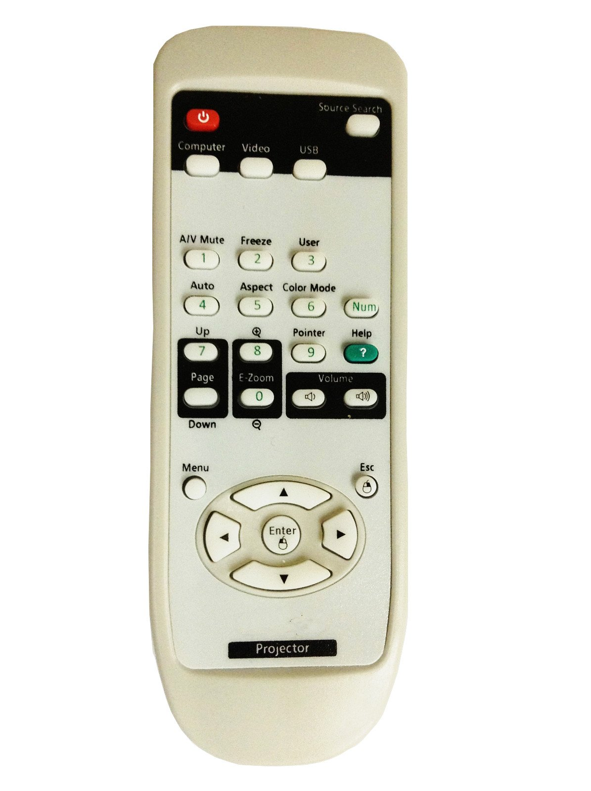 CLOB Projector Remote Control for EPSON Projector EMP-TWD3.