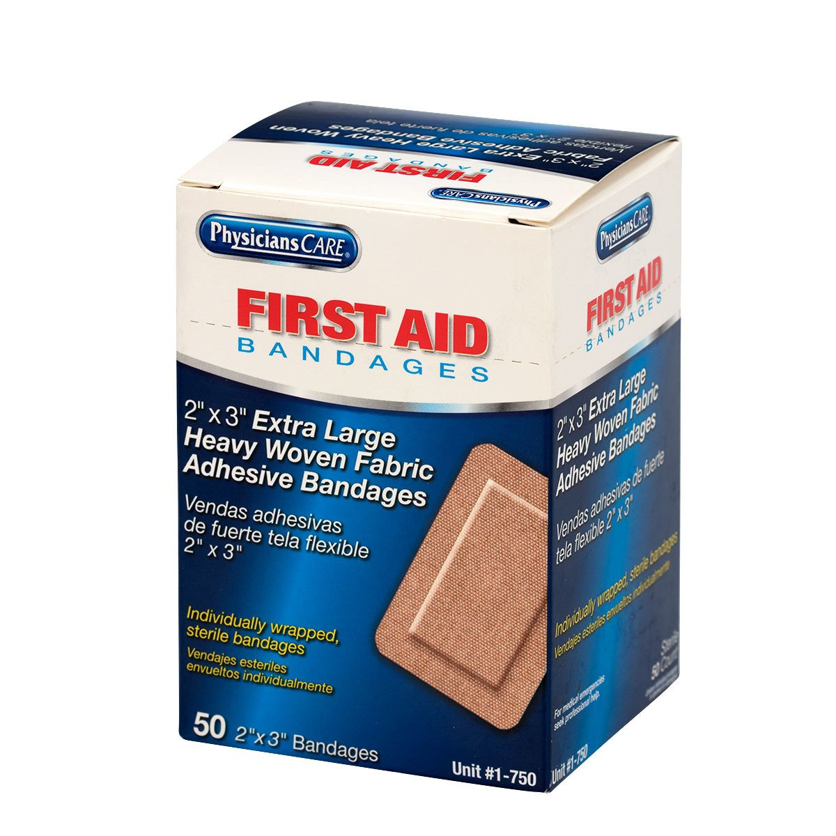 First Aid Only 2'' x 3'' Heavy Woven XL Bandages, 50 Per Box