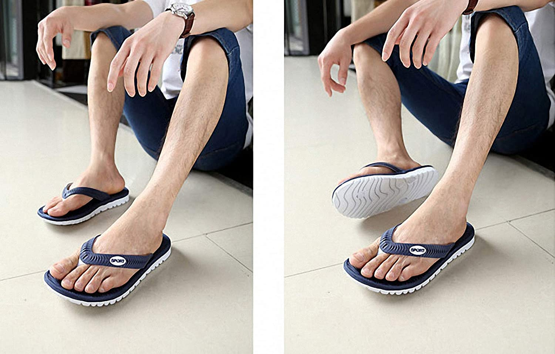 Tinpia Summer Men Flip Flops Bathroom Slippers Men Casual PVC EVA Shoes Fashion Summer Beach Sandals