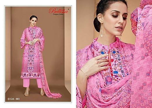991c6bebf4 Image Unavailable. Image not available for. Colour: BELLIZA Designer Studio  Nazrana Unstitched Cotton Salwar Suits ...