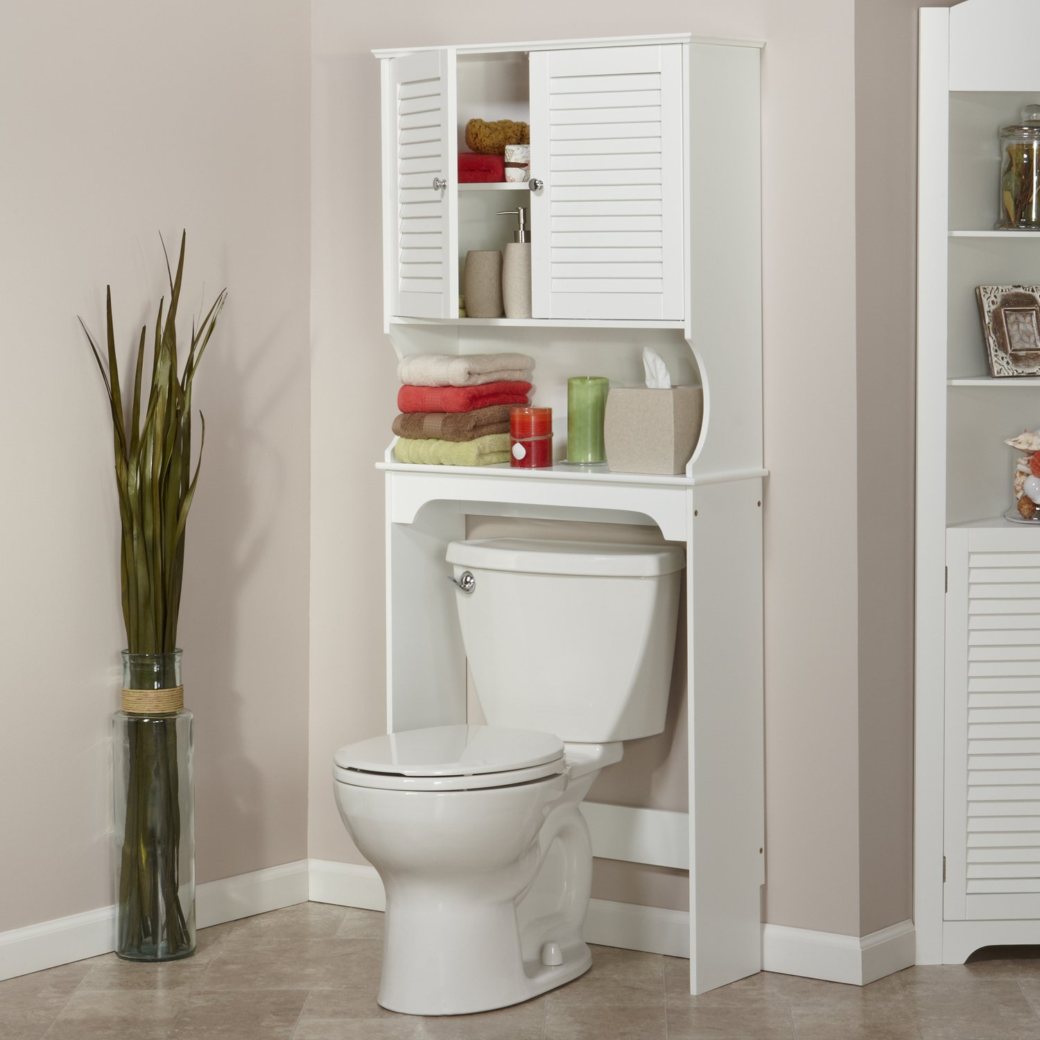 Behind The Toilet Cabinet Home Decoration Interior Home Decorating