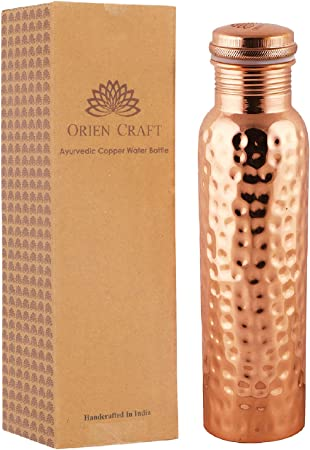Details about  /Pure copper hammered water bottle for personal use