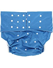Adult Diapers, 5 Colors Waterproof Adult Brief Diapers or Washable Adult Pocket Nappy Cover, Adjustable Reusable Diaper Cloth Suitable for the Old, the Disabled, Pregnant Woman(Dark Blue)