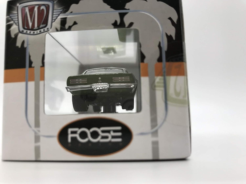 Over 42 Parts M2 Machines Foose 1968 Pontiac Firebird Uncle Sams Nephew 1//64 13-04 Green//Black Details Like NO Other