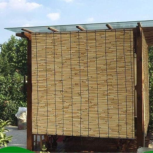 Giow Levantamiento de láminas Decorativas enrollables Persianas de bambú Semi-sombreadas, persianas enrollables, Cortinas translúcidas de protección Solar (Soporte de personalización): Amazon.es: Hogar
