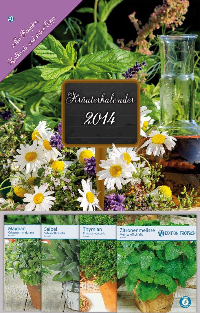 Kräuterkalender 2014 mit 4 verschiedenen Sämereien