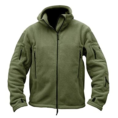 Men Warm Polar Army Clothes Multiple Pocket Casual Thermal Hoodie Coat  Jackets 7c5f43347