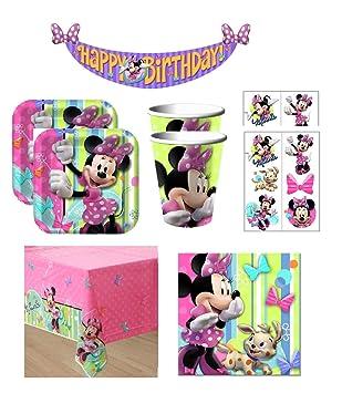 Paquete de suministros para fiesta de cumpleaños de Minnie ...