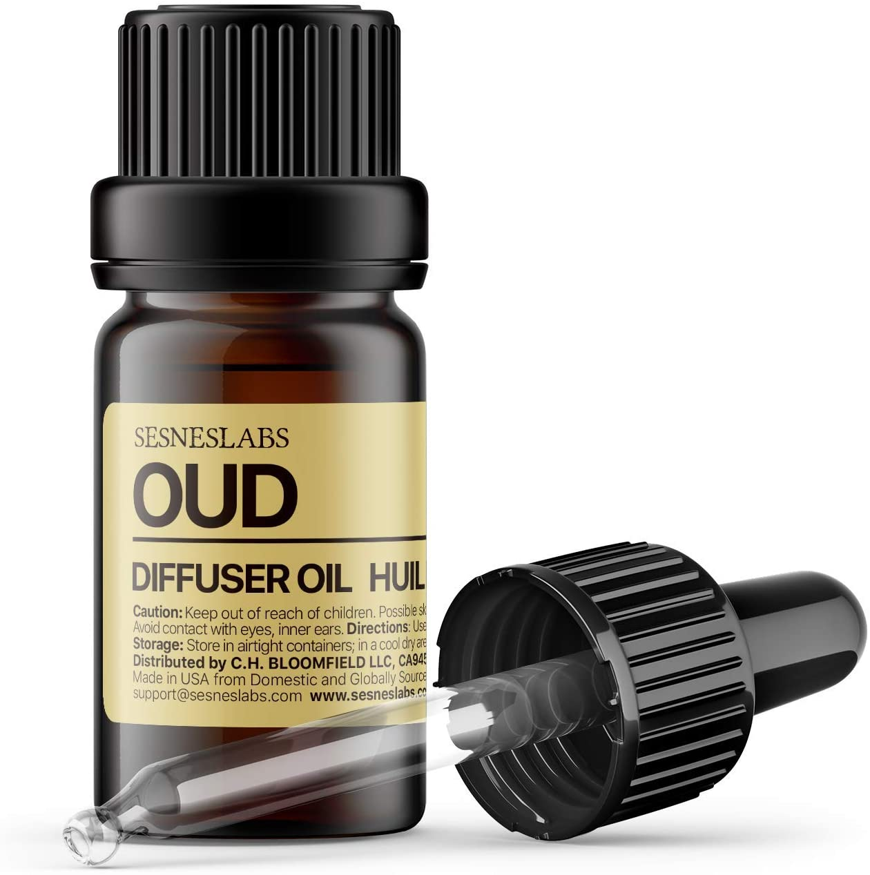 Oud Diffuser Oil, Niche Scent, Luxury Chinese Pepper, Rosewood, Cardamom, Vetiver, Oud, Tonka Bean, Musk Essential Oils Blend for Ultrasonic Diffuser Scent Projects(.33 oz/10 ml)