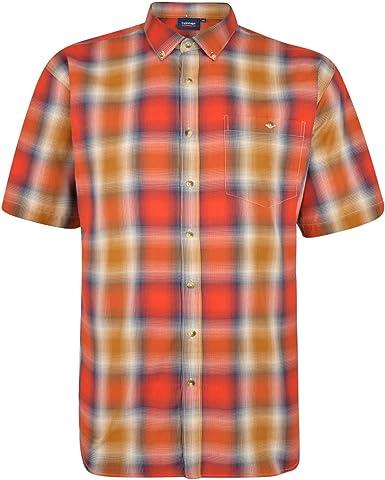 Espionage - Camisa de cuadros para hombre (talla grande ...