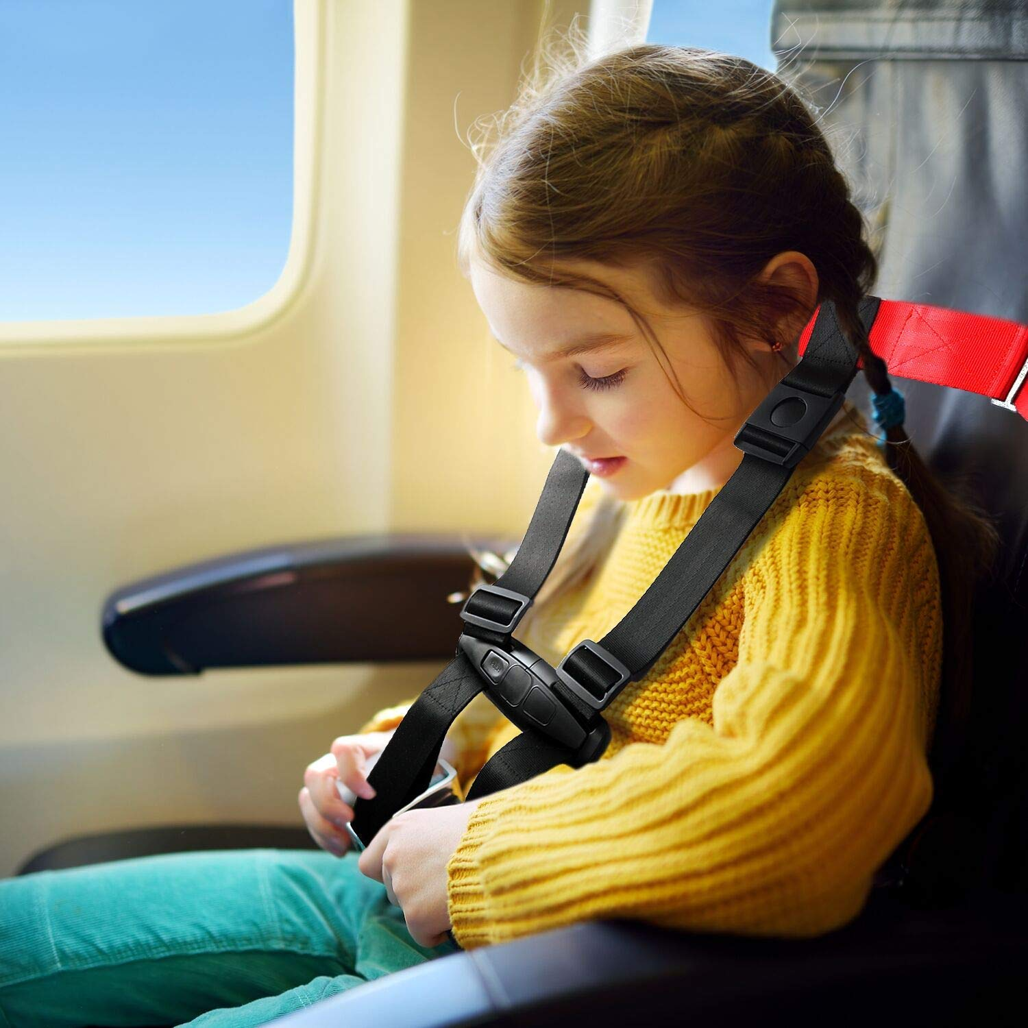 Child Airplane Travel Safety Harness Approved by FAA, Clip Strap Restraint System with Safe Airplane Cares Restraining Fly Travel Plane for Toddler Kids Child Infant by Mestron (Image #2)