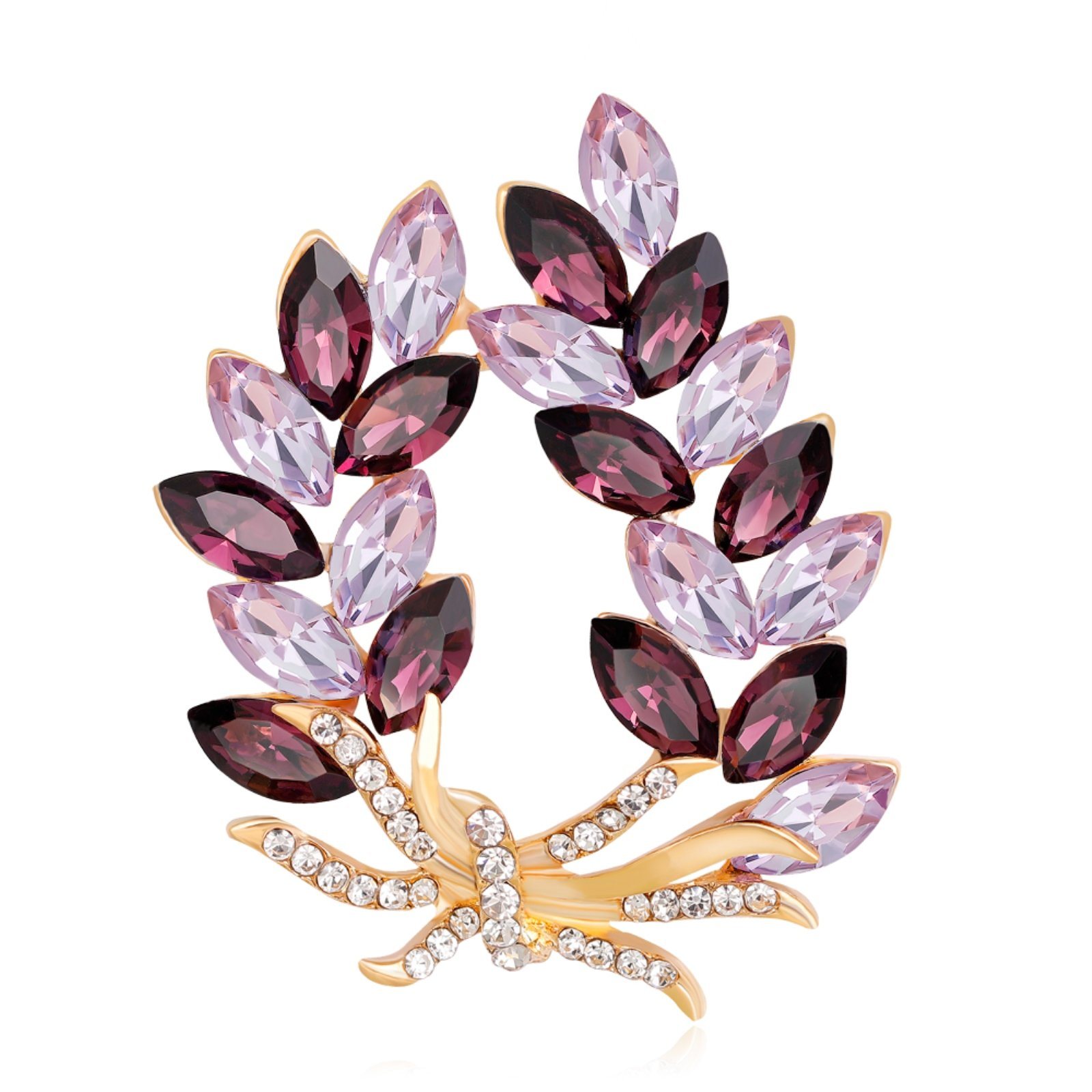 ptk12 Coat Accessories Purple Crystal Flower Casual Party Bouquets Rhinestone Brooch by ptk12 (Image #1)