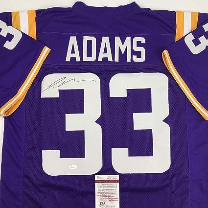 new styles ae640 fd680 Autographed/Signed Jamal Adams LSU Purple College Football ...