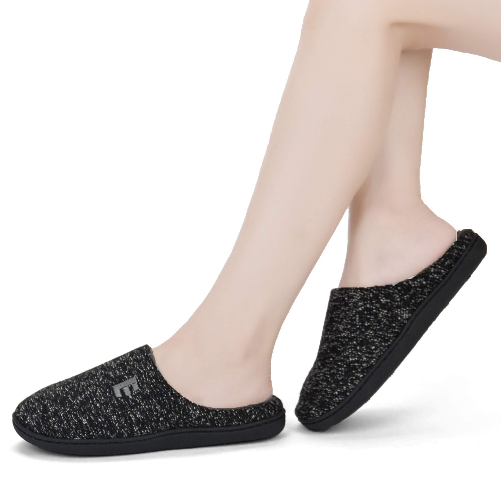EAST LANDER Women's Memory Foam House Slippers Soft Sole Anti-Slip Slippers Indoor Shoes ELMT004-W1-L