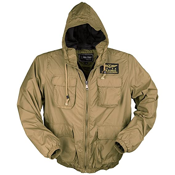 1fbed62c578 Mil-Tec Men s Air Force Jacket Coyote  Amazon.co.uk  Clothing