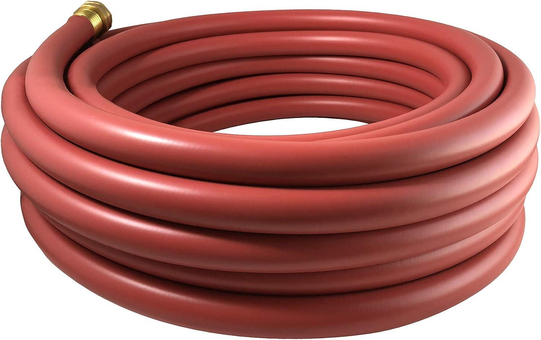 Flexon PH1250RCN 1/2 x 50ft Red Rubber Garden Hose