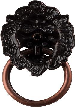 armario Red bronze 12PCS Cabeza de leon Aldaba armarios caj/ón aleaci/ón de zinc pomos tiradores de caj/ón//pomos//asas//para armarios de cocina muebles Hardware
