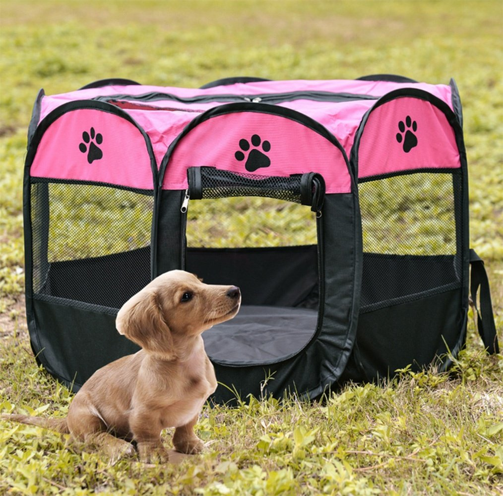 2 Medium 2 Medium PW Dog cage large dog folding octagonal pet tent
