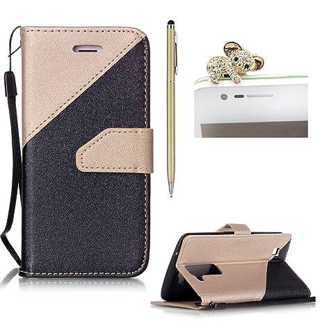 skyxd Flip Carcasa Para IPHONE LG K7 Lusso suave PU Piel Cartera Case Carcasas de Bella ...