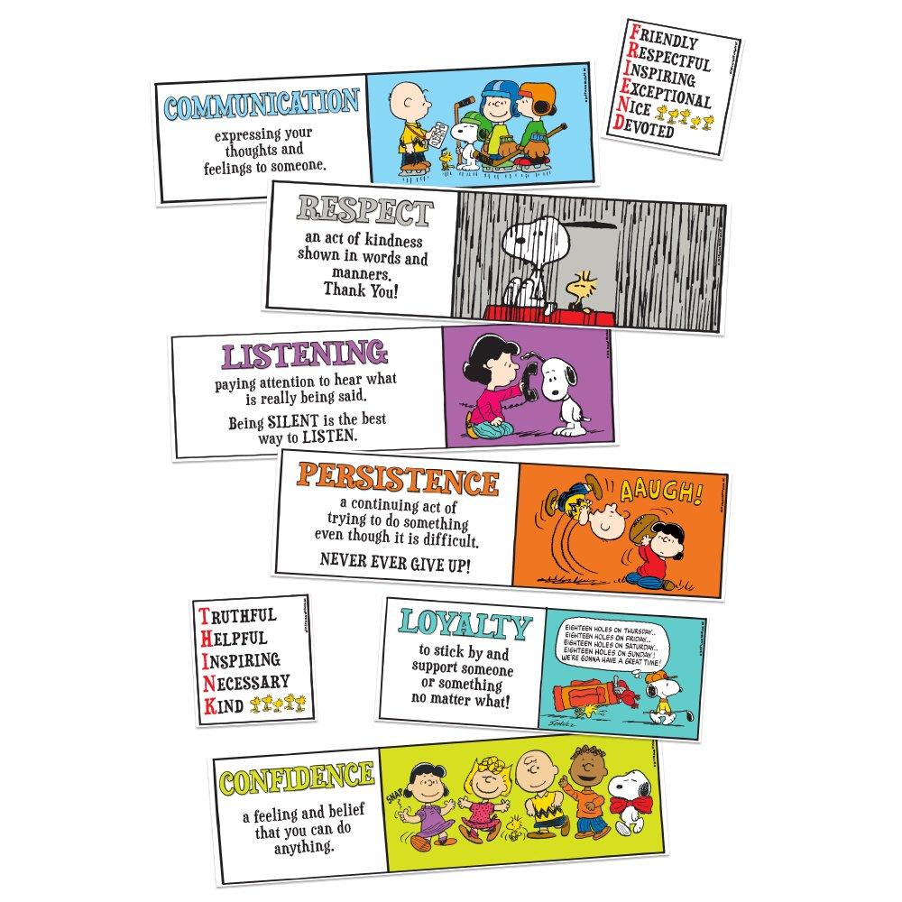 Eureka Peanuts Character Building Mini Bulletin Board Set (847618)