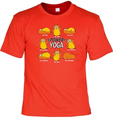 Motiv Shirt Spass Shirt Rubrik Lustige Spruche Power Yoga Geniale
