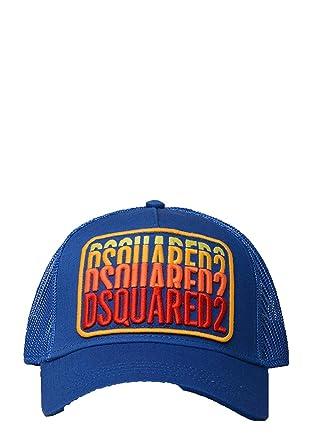 DSquared DSQUARED2-BCM0103 Logo Parche Gorra de Béisbol en Azul ...