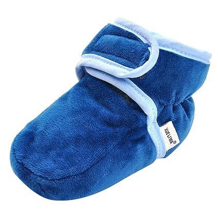 MagiDeal Zapatos de Invierno para Bebés Diario de Invierno Suave terciopelo coral Accesorios Infatiles - Azul, 12