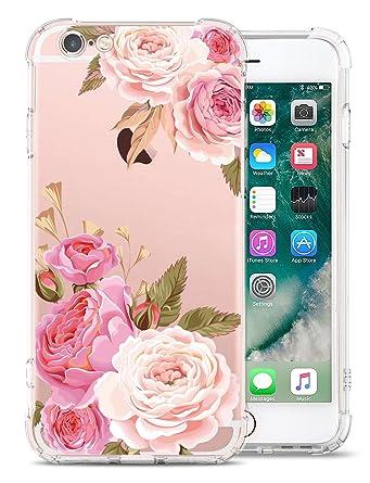 Amazon.com: Carcasa para iPhone 6S, diseño de flores ...