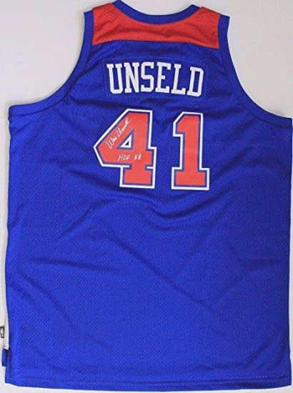 d9c2455bf0ec Image Unavailable. Image not available for. Color  Wes Unseld Hof Washington  Bullets Louisville Autographed Signed Jersey ...