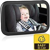 Amzdeal Espejo Retrovisor de Coche para Bebé - Espejo para Asientos Traseros para Vigilar el Bebé, 360°Ajustable…