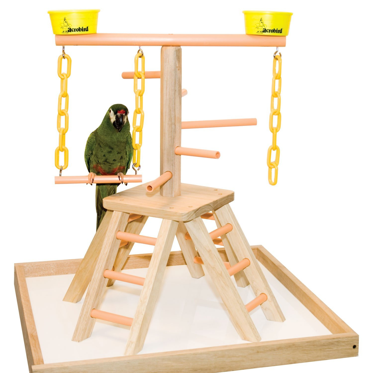 Small Acrobird PB20 Pyramid with Base Pet Toy, 20-Inch