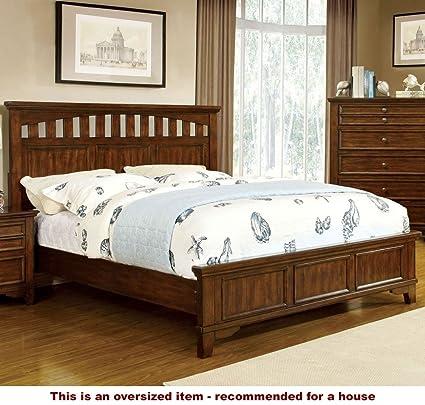 Amazon.com: 247SHOPATHOME IDF-7781CK Bed-Frames, California King ...
