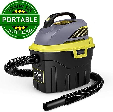 AUTLEAD Aspirador Seco-Húmedo, 1000W 12L Compacto Aspiradora Hogar con 2 boquillas, silenciador, compacta, manejable y con Ahorro de energía, para Uso en el hogar o vehículos -WDH2A: Amazon.es: Bricolaje y herramientas
