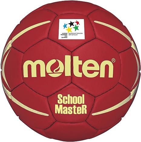 MOLTEN HXSM3 - Balón de Balonmano (Talla 3), Color Rojo y Amarillo ...
