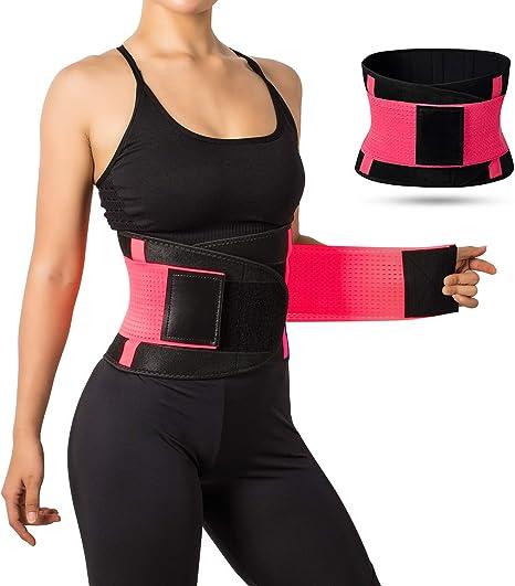 Yoga Slim Fit Waist Belt Trimmer Trainer Weight Loss Body Shaper Waist Girdle UK