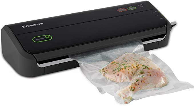 Amazon.com: FoodSaver FM2000 Vacuum Sealer Machine with Starter Bags & Rolls | Safety Certified | Black - FM2000-FFP: Kitchen & Dining