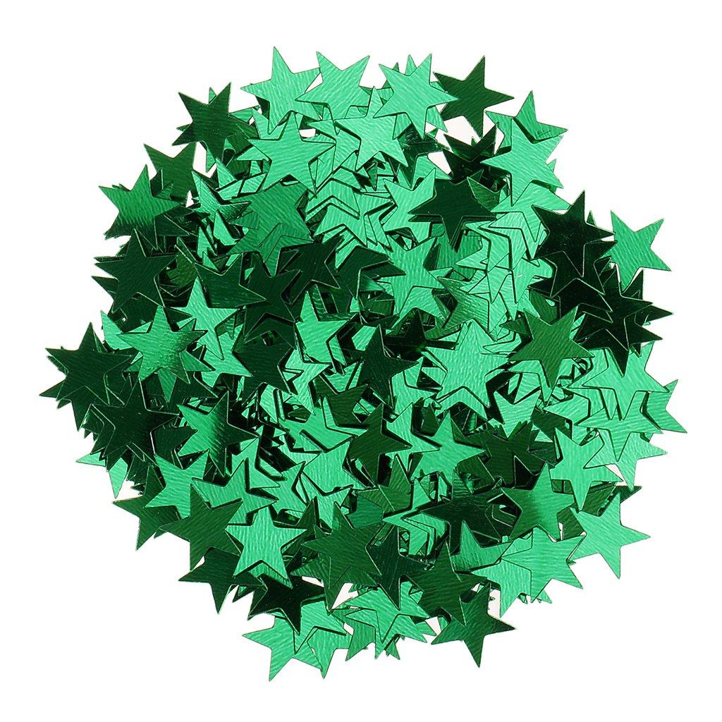 Sharplace 15g Streudeko Konfetti Hochzeit Stern Klein Metallisch Tischdeko Party Weihnachten - Blau, 6mm