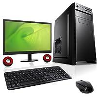 """PC DESKTOP COMPUTER FISSO▬MONITOR 20"""", MOUSE, TASTIERA, CASSE▬ASSEMBLATO COMPLETO Intel QUAD-CORE fino a 2.3 GHZ▬RAM 4GB▬HD 1TB ▬MASTERIZZATORE▬WINDOWS 10▬ DILC GREEN EASY"""