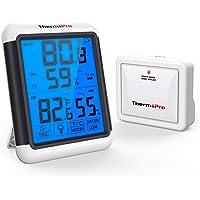 ThermoPro TP65 Termómetro Higrómetro Digital para Interior y Exterior Medidor de Humedad y Temperatura Inalámbrico con…