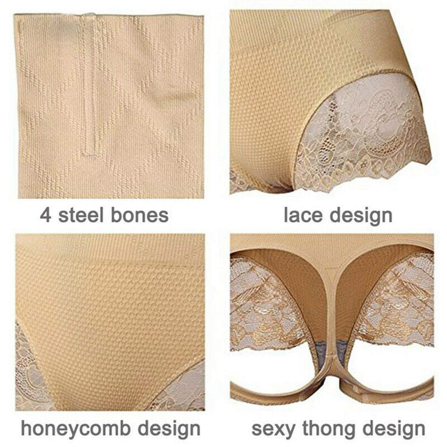Lace Waist Trainer Body Shaper Tummy High Waist Butt Lifter Women Firm Shorts Shapewear